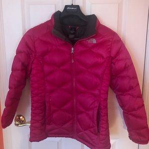 Girls Pink North Face Winter Jacket